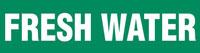 Fresh Water (Green) Wrap Around Pipe Marker