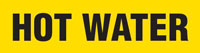 Hot Water (Yellow) Wrap Around Pipe Marker
