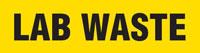Lab Waste (Yellow) Wrap Around Pipe Marker