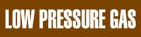 Low Pressure Gas (Brown) Wrap Around Pipe Marker