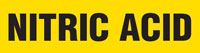 Nitric Acid (Yellow) Wrap Around Pipe Marker