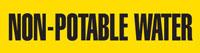 Non- Potable Water (Yellow) Wrap Around Pipe Marker