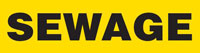 Sewage (Yellow) Wrap Around Pipe Marker