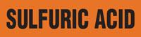 Sulfuric Acid (Orange) Wrap Around Pipe Marker