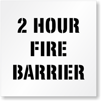 2 Hour Fire Barrier Fire Safety Stencil