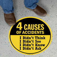 4 Causes Of Accidents Workplace Safety Floor Sign