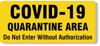 COVID-19 Quarantine Label