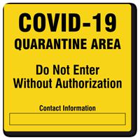 COVID-19 Quarantine Sign