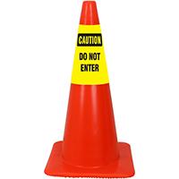 Caution Do Not Enter Cone Collar