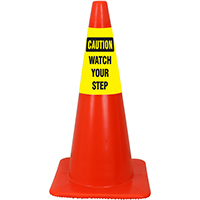 Caution Watch Your Step Cone Collar