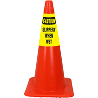 Caution Slippery When Wet Cone Collar