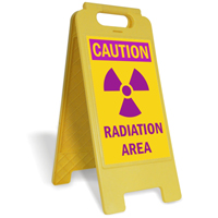 Caution, Radiation Area with Graphic Free-Standing Sign
