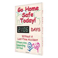 Go Home Safe Today! Sign