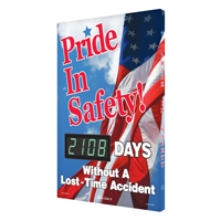 Pride In Safety Days Without Accident Sign