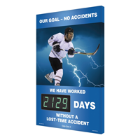 Our Goal - No Accidents (Hockey Theme) Sign