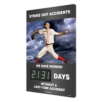 Strike Out Accidents (Baseball Theme) Sign