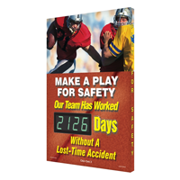 Make Play Safety Days Without Accident Sign