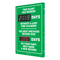 This Plant Worked Days Without Accident Sign