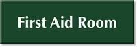First Aid Room Engraved Sign