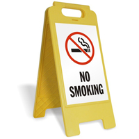 No Smoking (W/Graphic) Fold-Ups® Floor Sign