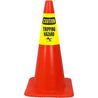 Caution Tripping Hazard Cone Collar