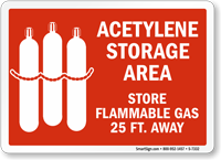 Acetylene Storage Area Sign