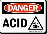 Danger Acid Sign