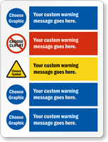 Add Custom Warning Message And Choose Cliparts Sign