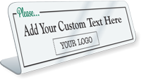 Add Logo Custom Social Distancing ShowCase Desk Sign