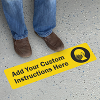 Add Your Custom Face Covering Instructions Floor Sign