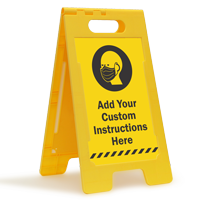 Add Your Custom Face Covering Instructions FloorBoss Sign
