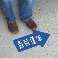 Add Your Text Custom Arrow SlipSafe Floor Sign