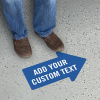 Add Your Text Custom Right Arrow SlipSafe Floor Sign