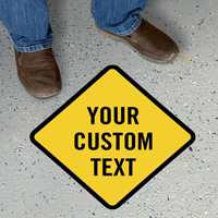 Add Your Text Custom Diamond SlipSafe Floor Sign