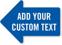 Add Your Text Custom Left Arrow SlipSafe Floor Sign