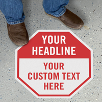 Add Your Text Custom Octagon SlipSafe Floor Sign
