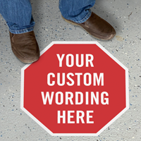 Add Your Wording Custom Octagon SlipSafe Floor Sign