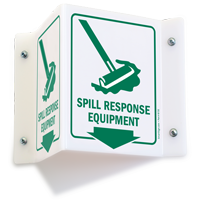 Spill Response Equipment Sign