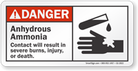 Anhydrous Ammonia ANSI Danger Sign