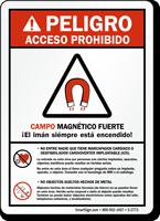 Peligro (Ansi) Acceso Prohibido Campo Magnetico Sign