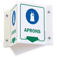 Aprons PPE Projecting Sign