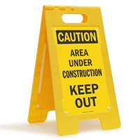 Area Under Construction Keep Out Caution Floor Sign