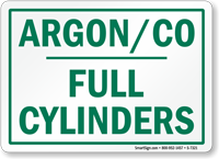 Argon Full Cylinders sign