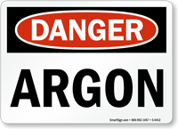 Danger Argon Sign