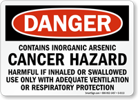 Danger: Contains Inorganic Arsenic Cancer Hazard Sign