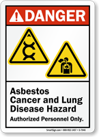 Asbestos Cancer And Lung Disease Hazard Danger Sign