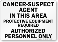 Cancer Suspect Agent In This Area Sign
