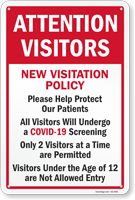 Attention Visitors Help Protect Our Patients Sign