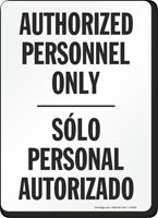 Authorized Personnel Personal Autorizado Sign