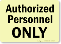 Authorized Personnel Sign